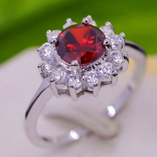White-Gold-Rhodium-Plated-with-CZ-Crystal-Surrounded-font-b-Ruby-b-font-Wedding-Jewelry-Ring
