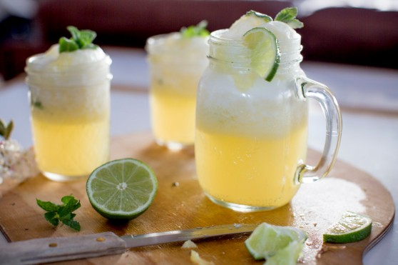 Coconut Water Pineapple Juice Cooler